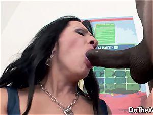 Mature wifey with big ebony fuck-stick internal ejaculation