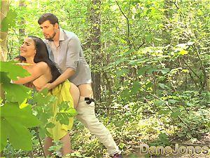 Dane Jones blow-job and outdoor romp in a summer dress