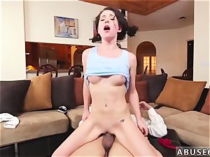 extraordinary vibration massage and chief ally facehole plows her, gags her with his stiffy