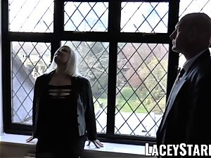 LACEYSTARR - Mature English stunner boned and facialized