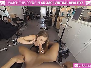VRBangers.com Hairdresser Ella plumbed rock hard and facial