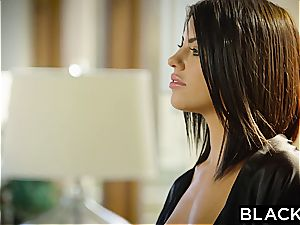 BLACKED dark haired Adriana Chechik Takes three of BBCs