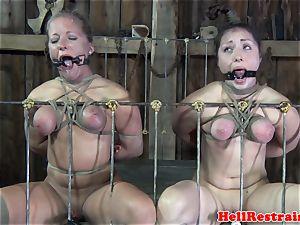 restrained babe disciplined during sadism & masochism