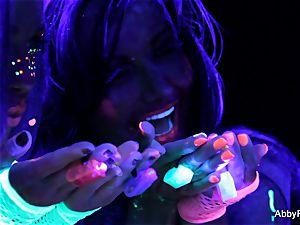 sexy blacklight fun with Abigail Mac