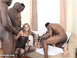 dual anal double foray gang nail bi-racial