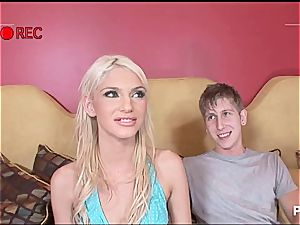 thin ash-blonde gets the widening of her life