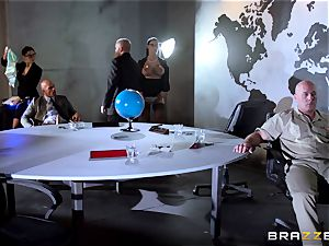 humungous titted Peta Jensen torn up via the boardroom table