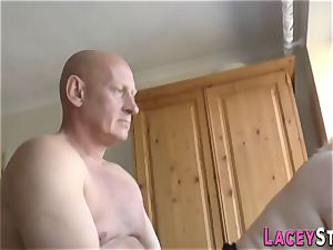 lush brit grandmother penetrated