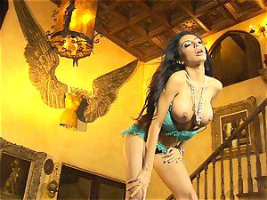 nice in underwear, Lela starlet demonstrates off her slinky glamour dance moves