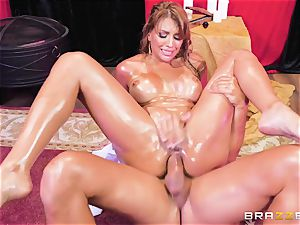 Oiley Mercedes Carrera porked enormous time by large bone