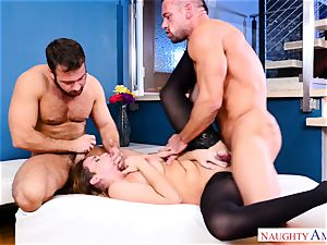 Natasha lovely frolicking with two cocks