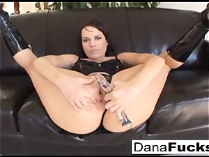 Dana gets her caboose wedged with a huge dark-hued penises