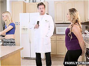 perverted scientist screws his mom and sis