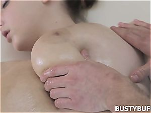 huge-titted bap massage with Lucie Wilde