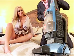 platinum-blonde housewife Summer bangs stellar salesman Lily