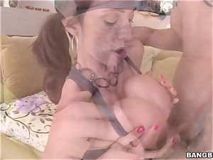 spunk-pump hungry milf Ariella Ferrera pulverized in her pink pucker