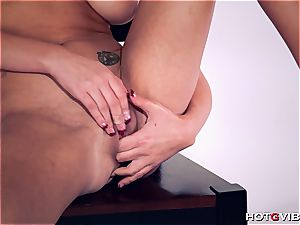 curvaceous Brett Rossi uses her fresh toy to sate herself