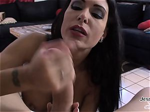 Jessica Jaymes eager to get man meat in her facehole