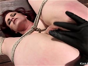 humungous breasts mummy ginger-haired vag toyed frog-tie