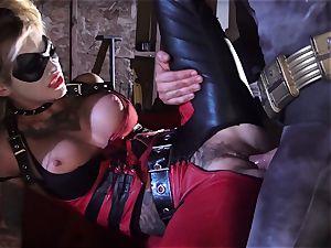 Kleio Valentien gives filthy blowjob to a superhero