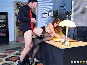 Dani Jensen playing with cock in the office