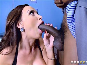 Elections and large ebony meatpipe erections for Nikki Benz