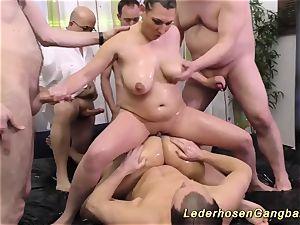 lubricious nuru gangbang fucky-fucky