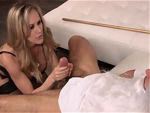 Brandi enjoy pounds a dude in elegant sundress