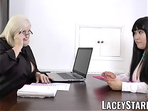 LACEYSTARR - business GILF tongue inspects young cunt