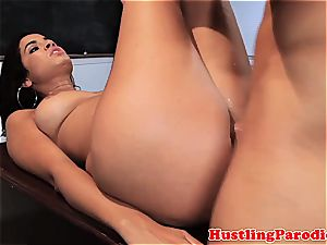 Isis getting jizz on her hooters