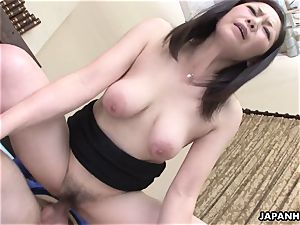 japanese wifey got her fur covered pussy pummeled after a sixty-nine