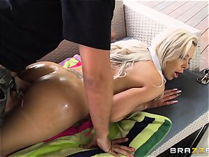 Nina Elle is showered in spunk