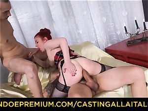 casting ALLA ITALIANA - hard-core assfuck fuck-fest with fledgling