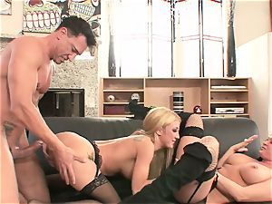 babes Amy Brooke & Tory Lane lick on this firm schlong