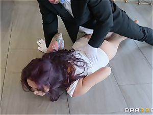 Monique Alexander riding stiff on top