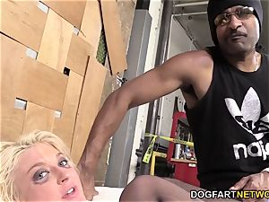 Leya Falcon Gets analed By A hung dark-hued stud