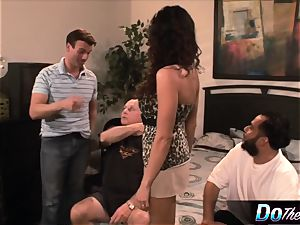 Ariella lets a fellow nail her in front of her spouse