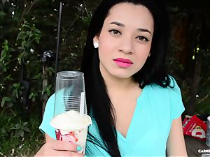 CARNE DEL MERCADO - super-steamy bang with wondrous Latina stunner