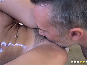 Ariana Marie riding on top of Keiran Lee