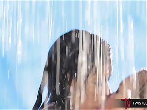 drenching wet Dana Vespoli and magnificent Kayden Kross minge gobble