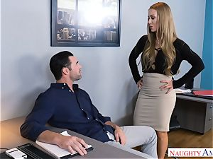 Nicole Aniston humping at work