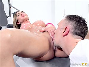pulverizing the well-lubed pussy of Nina Dolci