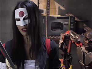 Suicide crew parody Sn 4 Ada Akira railing ebony boner