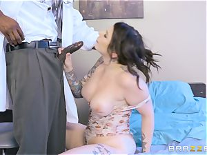 Monique Alexander and Ivy Lebelle railing the doctor