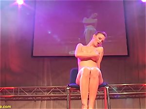 red-hot lapdance showcase with chesty mummy