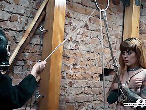 exclusive feet strength - Lesdom torments German feet slaves