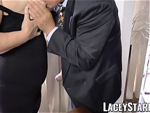 LACEYSTARR - wildest granny analled before cum shot