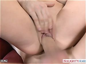 big-chested platinum-blonde babe Nikki Benz tear up