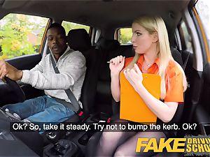 fake Driving school long dark-hued pink cigar pleases blond