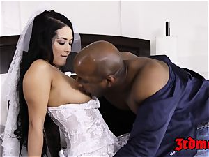 hotwife bride creampied by a big black cock